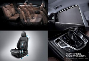 Първи снимки от интериора на новия Hyundai Santa Fe / ix45