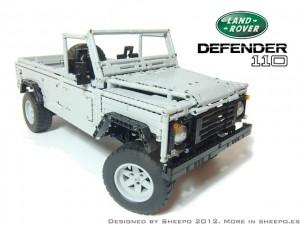 Уникален Lego Land Rover Defender 110 в мащаб 1:8,4 (галерия + видео)