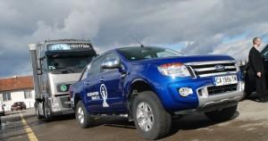 Новият Ford Ranger тегли ТИР в София