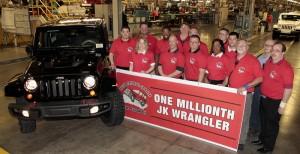 Jeep Wrangler JK чукна 1 милион бройки