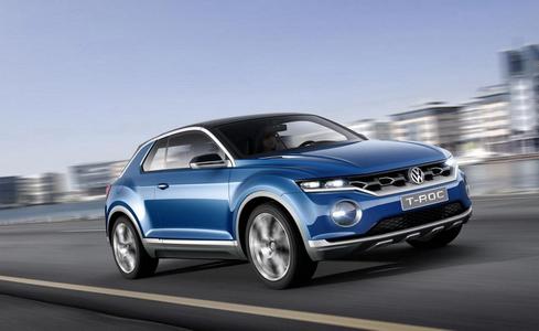 Оф-роуд кабриолетът Volkswagen T-ROC детайлно (галерия)