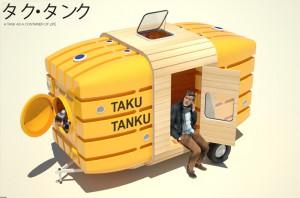 Taku-Tanku: ексцентрична каравана за велосипед