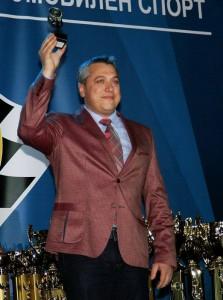 Александър Ковачев с приз от Автомобилната федерация