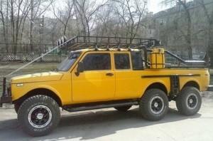 Направиха и Lada Niva 6×6