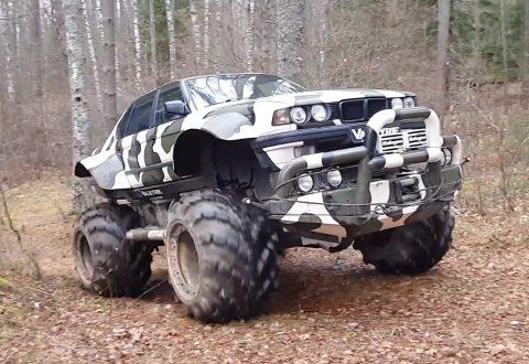 Valkyrie 766: BMW 7 като Monster Truck (видео)