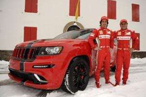 Алонсо и Маса са първите собственици на Jeep Grand Cherokee SRT8 в Европа