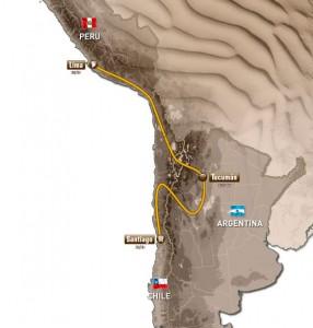 Официалният маршрут на рали Дакар 2013: старт в Перу, финал в Чили