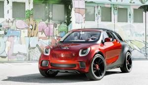 Пътуващо кино: електрическият кросоувър купе smart forstars (галерия)
