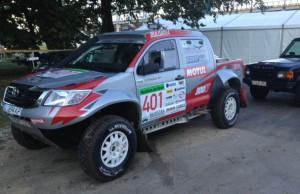 Български екипаж на старта Hungarian Baja 2014