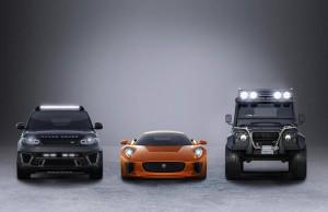 Джеймс Бонд с Defender Big Foot и Range Rover Sport SVR