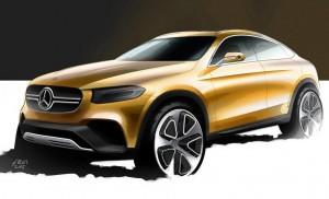 Mercedes GLC Coupe sketch