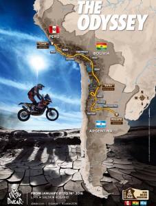 Рали Дакар 2016: маршрутът детайлно (етапи и градове)