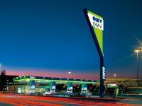 OMV Tankstelle in der Nacht