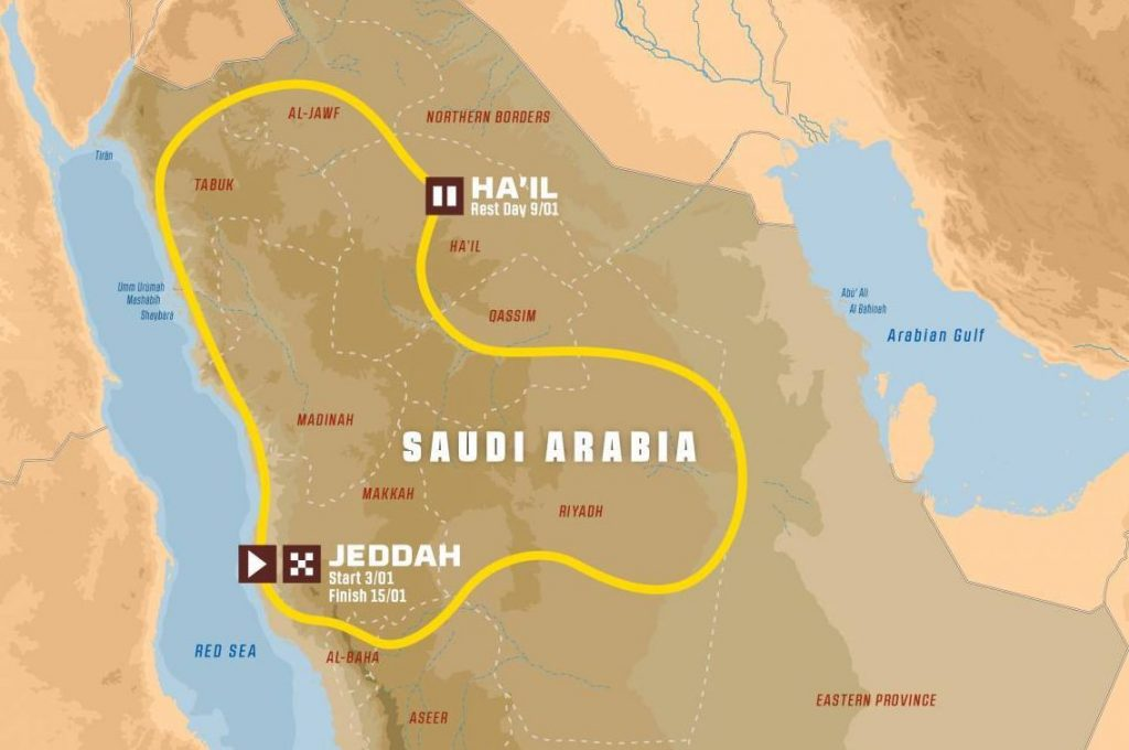 рали Дакар 2021 маршрут